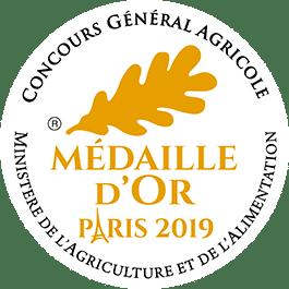 Médaille Or 2019 Concours Général Agricole