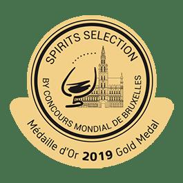 Médaille Or 2019 Concours Mondial de Bruxelles